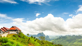 Mountains and blue sky on the way to Vang Vieng-Lu Stock Photos