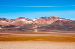 Mountains in Bolivia. Mountainrange in Bolvia near Chile Royalty Free Stock Photography