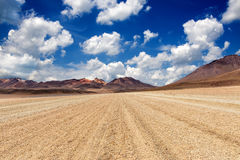 Mountains in the Bolivian Altiplano. View of mountains and sky with clouds in the Bolivian Altiplano Royalty Free Stock Photography