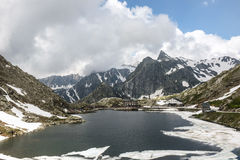 Mountains. In the border of Italy and Switzerland Royalty Free Stock Photography