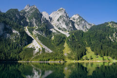 Mountains bordering a lake Royalty Free Stock Image