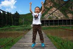 Mountains boy royalty free stock photography