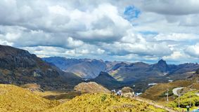 Mountains in Cajas National Park, Ecuador stock images