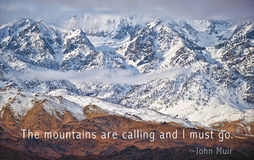 The mountains are calling Royalty Free Stock Photo