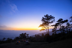 Mountains camping Stock Images