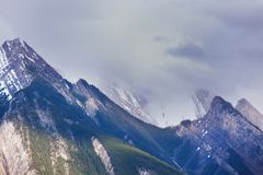 Mountains in Canada. Picturesque mountain view in the Canadian Rockies in summer season Royalty Free Stock Image