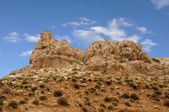 Mountains of the canyon Negev Desert in Israel Royalty Free Stock Photography