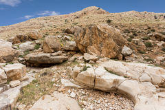 Mountains of the canyon Negev Desert in Israel Royalty Free Stock Photos