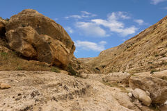 Mountains of the canyon Negev Desert in Israel Royalty Free Stock Photo