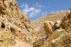 Mountains of the canyon Negev Desert in Israel Stock Photography