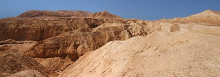 Mountains and canyon in stone desert. Near the Dead Sea in Israel Stock Image