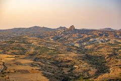 Mountains in Cappadocia stock photo