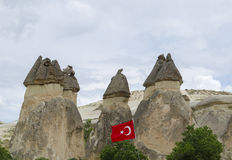 Mountains of cappadocia in turkey Stock Images