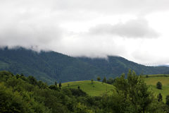 Mountains in the Carpathians Royalty Free Stock Images