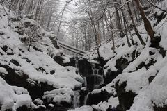 Frozen Waterfall Shipot stock image