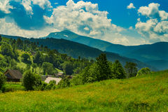 Mountains in Carpathians Stock Image