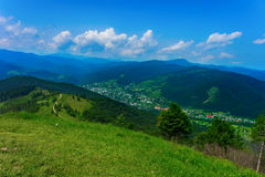 Mountains in Carpathians Royalty Free Stock Photography