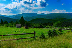 Mountains in Carpathians Stock Photo