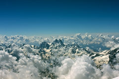Mountains in Caucasus. Summer mountains in Caucasus with clouds Royalty Free Stock Images