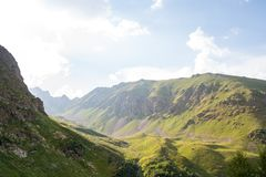 Mountains of the Caucasus Stock Photography