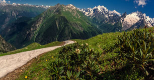 In the mountains of the Caucasus Stock Images