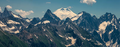 In the mountains of the Caucasus Stock Photos
