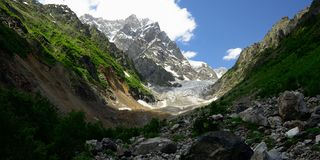 Mountains of the Caucasus in Swanetia region in Georgia Stock Photo