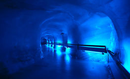 Mountains Cave Tunnel walkway Royalty Free Stock Photo