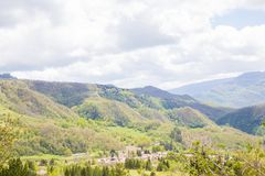 The mountains of the Central Apennines Stock Photos