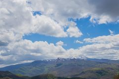 The mountains of the Central Apennines Stock Images
