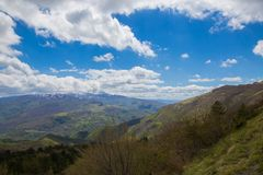 The mountains of the Central Apennines Royalty Free Stock Image