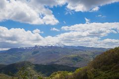 The mountains of the Central Apennines Royalty Free Stock Photography