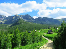 Mountains. Charming place with mountain views Royalty Free Stock Images