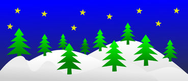 Mountains on Christmas tress Stock Photography
