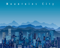 Mountains city Stock Images