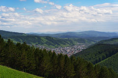 Mountains and City of Gorno-Altaysk. Russia Royalty Free Stock Photo