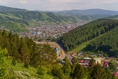 Mountains and City of Gorno-Altaysk. Russia 2016 Stock Photography