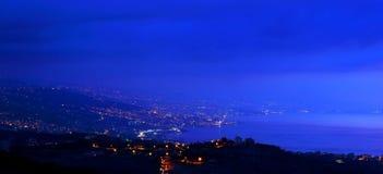 Mountains city at night Royalty Free Stock Photos