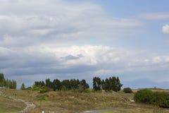 Mountains close to Tatev canyon in Armenia. Mountains near ropeway Wings of Tatev royalty free stock image
