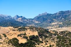 Mountains close to Zahara de Sierra in Andalucia Stock Photo