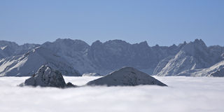 Mountains in a cloud sea Royalty Free Stock Photography