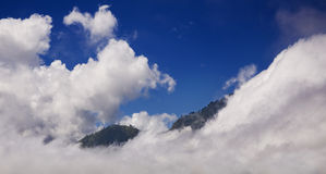 Mountains in the clouds Royalty Free Stock Photos