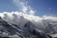 Mountains in clouds Stock Image