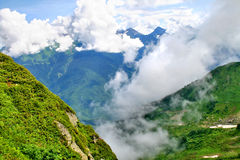 Mountains in clouds Royalty Free Stock Image
