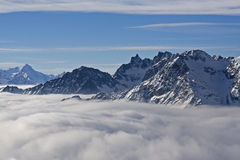 Mountains in the clouds Royalty Free Stock Image