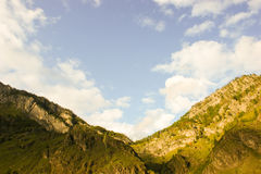 Mountains and clouds. Altai Mountains. Royalty Free Stock Image