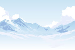 Mountains and clouds Royalty Free Stock Image