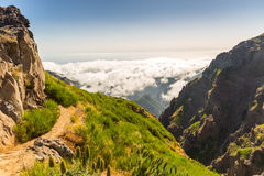 Mountains in clouds Royalty Free Stock Photography