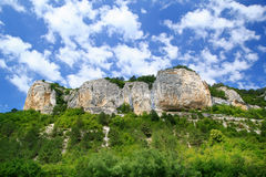 Mountains and clouds. In the Crimea Stock Photos