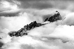 Mountains in the Clouds Grant Teton Peaks Royalty Free Stock Photo